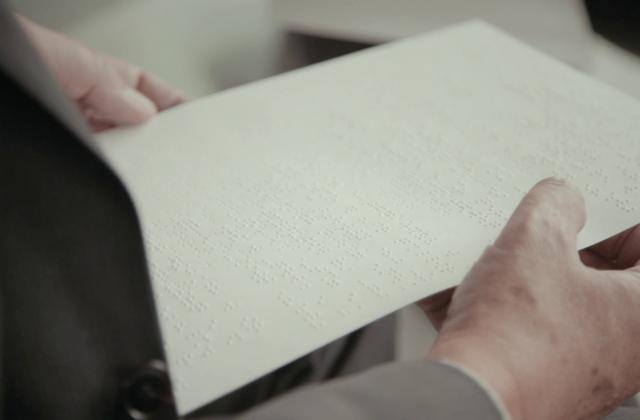 Brailleschrift Papier