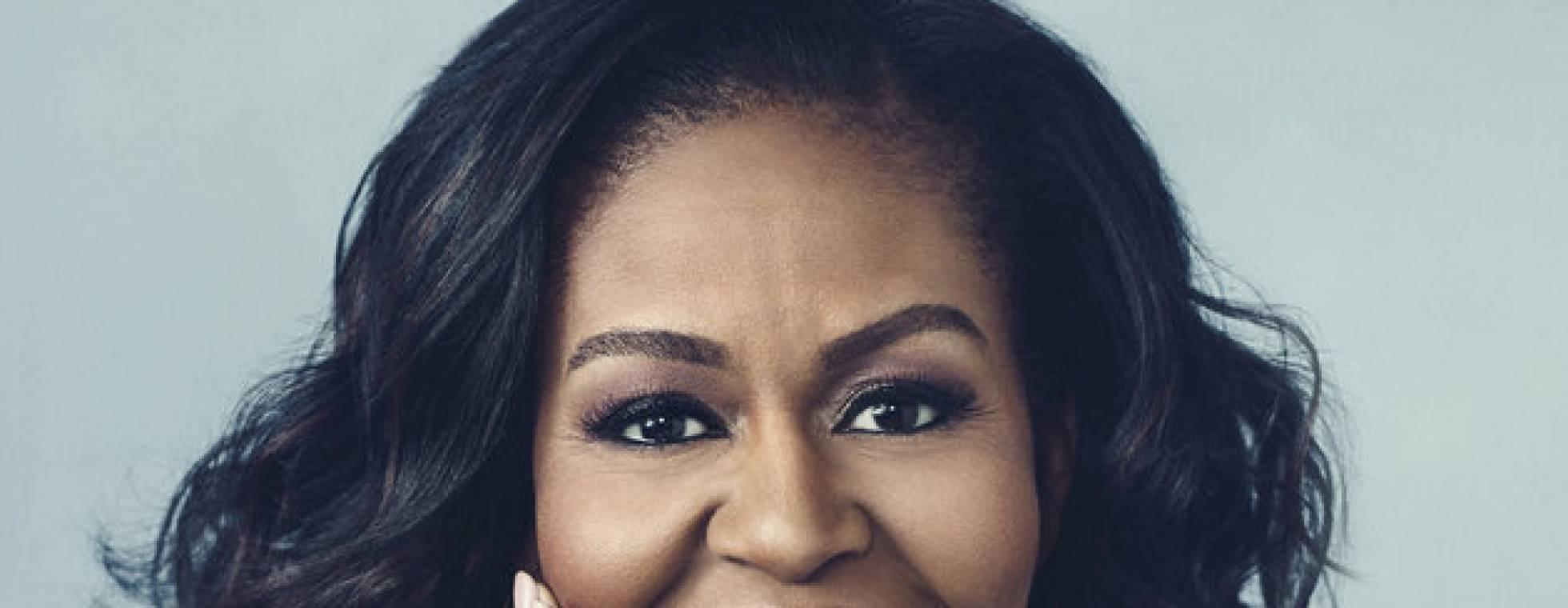 Kopf von Michelle Obama